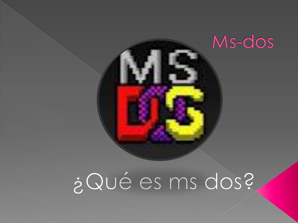 Ms-dos ¿Qué es ms dos