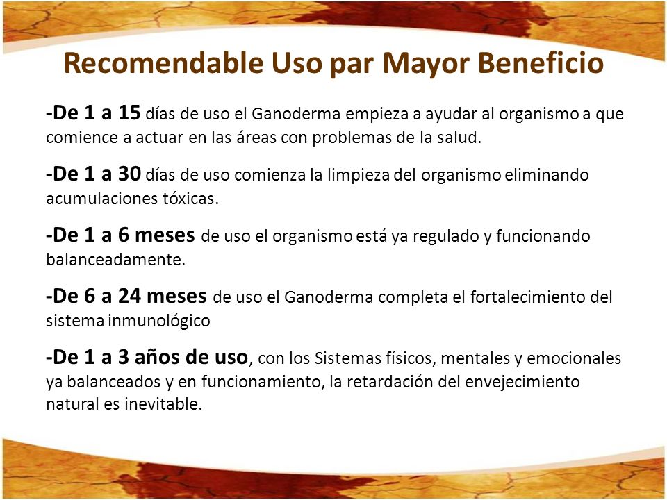 Recomendable Uso par Mayor Beneficio