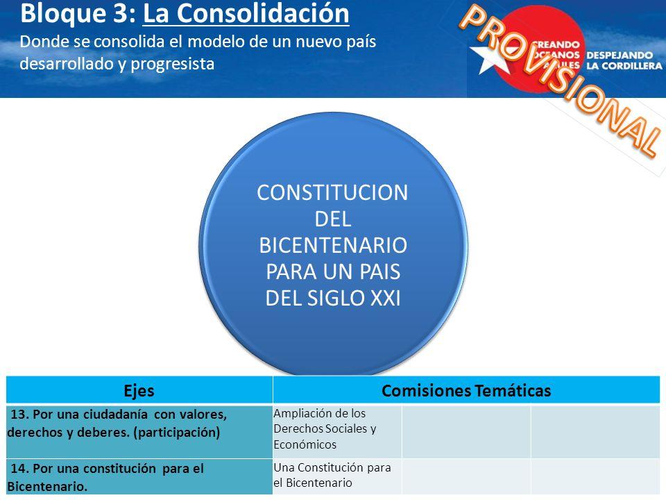 CONSTITUCION DEL BICENTENARIO PARA UN PAIS DEL SIGLO XXI