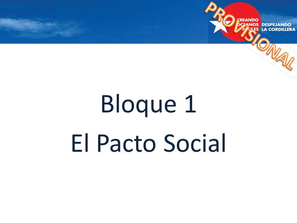 PROVISIONAL Bloque 1 El Pacto Social
