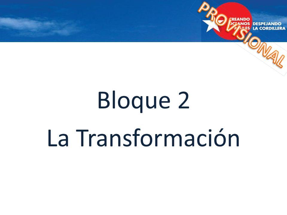 PROVISIONAL Bloque 2 La Transformación