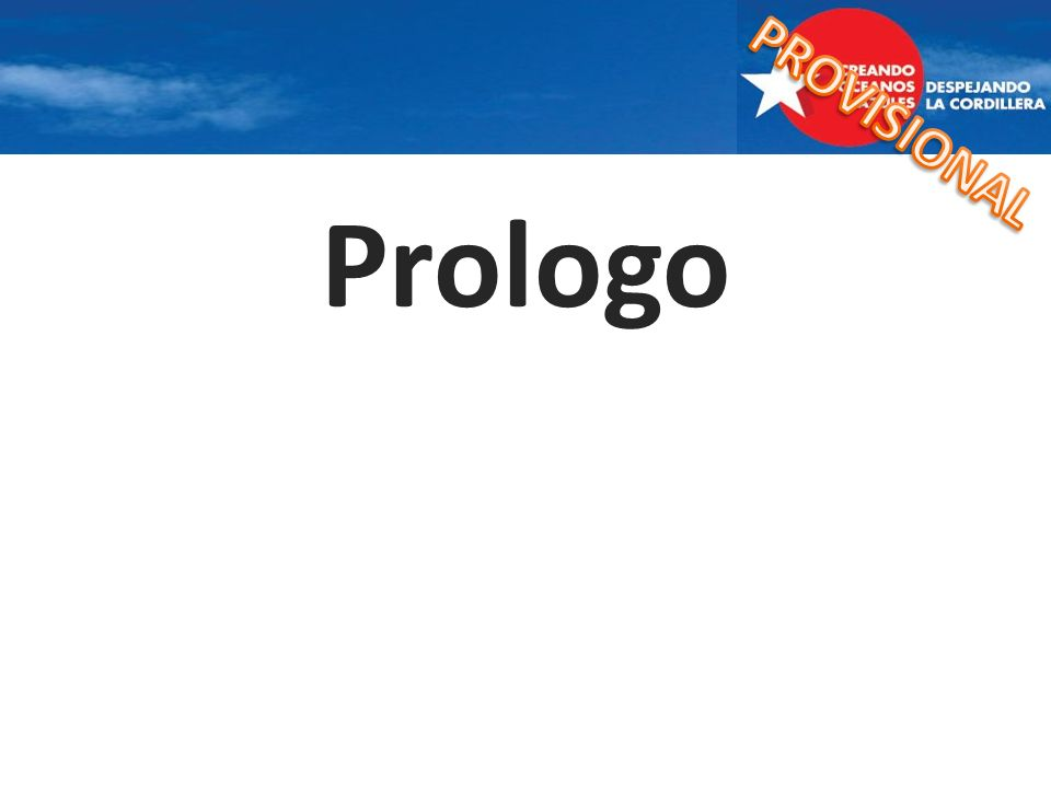 PROVISIONAL Prologo