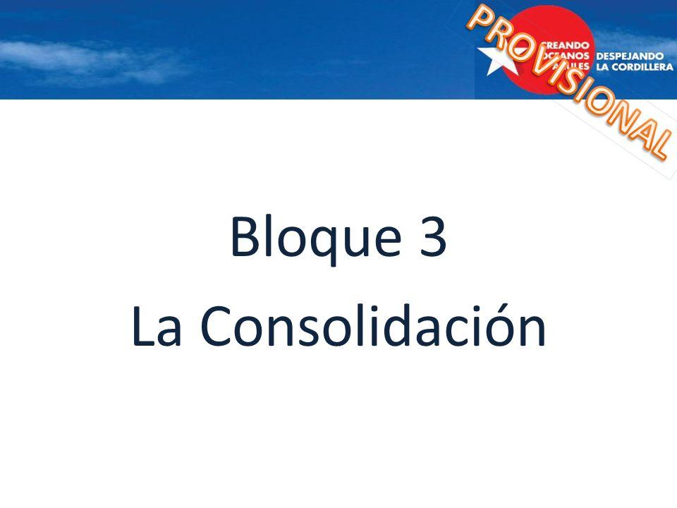 PROVISIONAL Bloque 3 La Consolidación