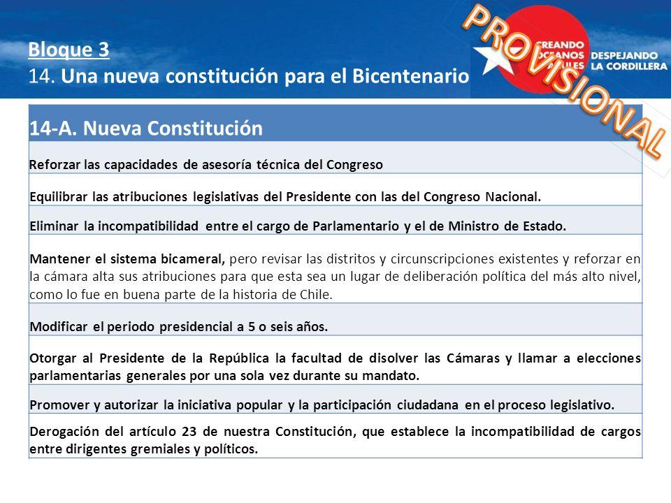 Bloque 3 14. Una nueva constitución para el Bicentenario