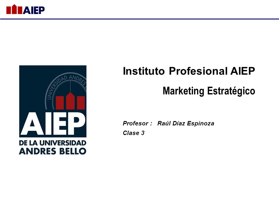 Instituto Profesional AIEP Marketing Estratégico
