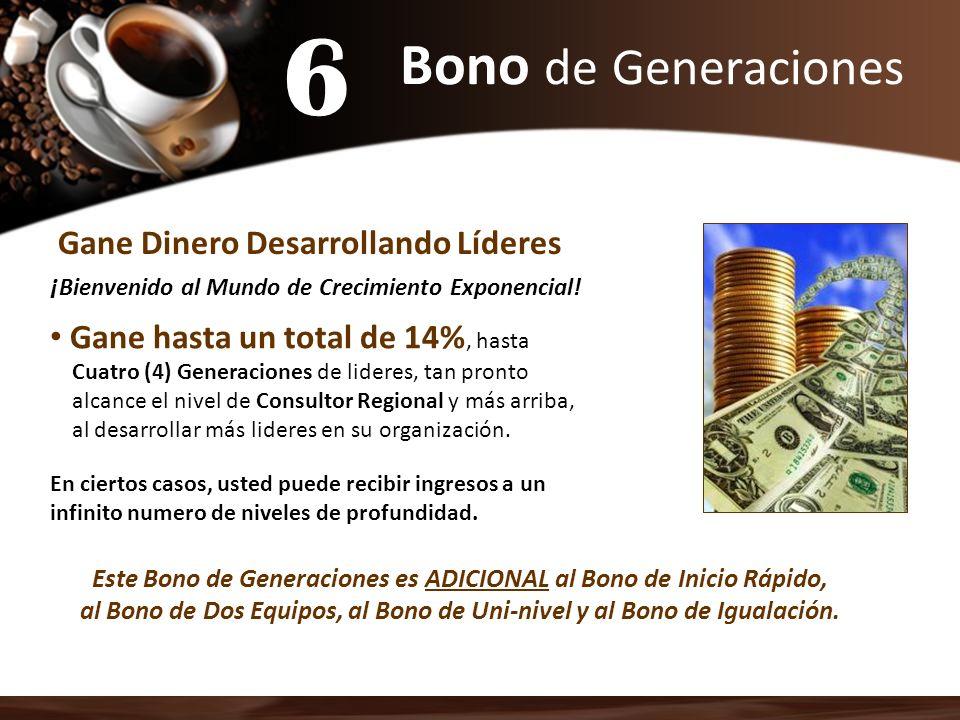 6 Bono de Generaciones Gane Dinero Desarrollando Líderes