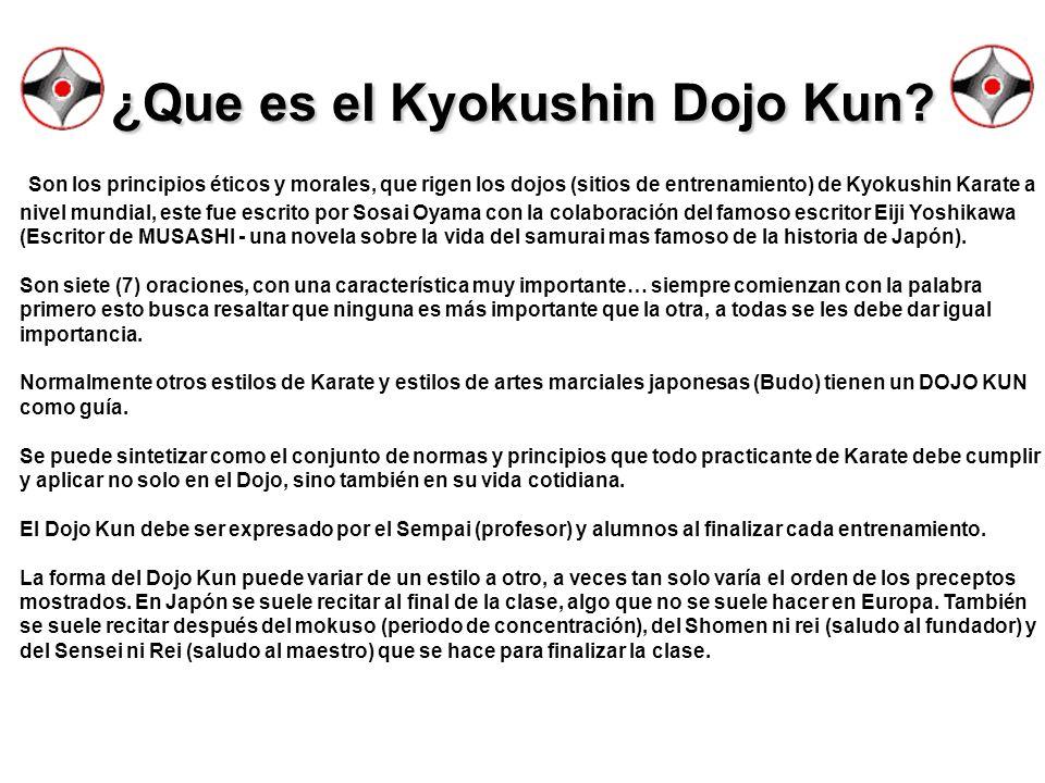 ¿Que es el Kyokushin Dojo Kun