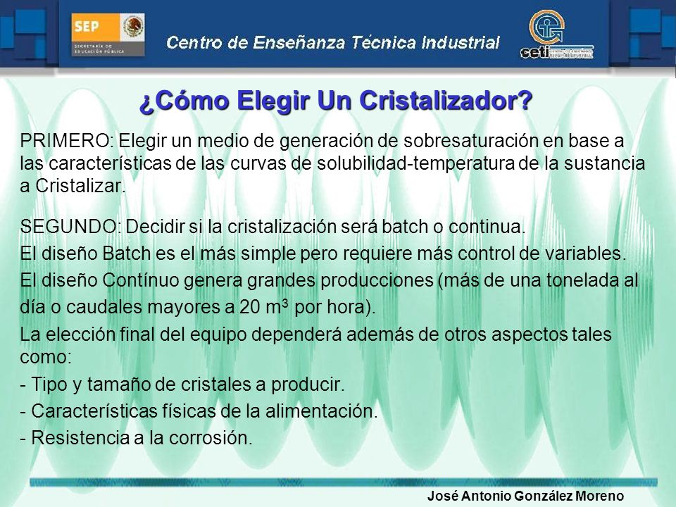 ¿Cómo Elegir Un Cristalizador