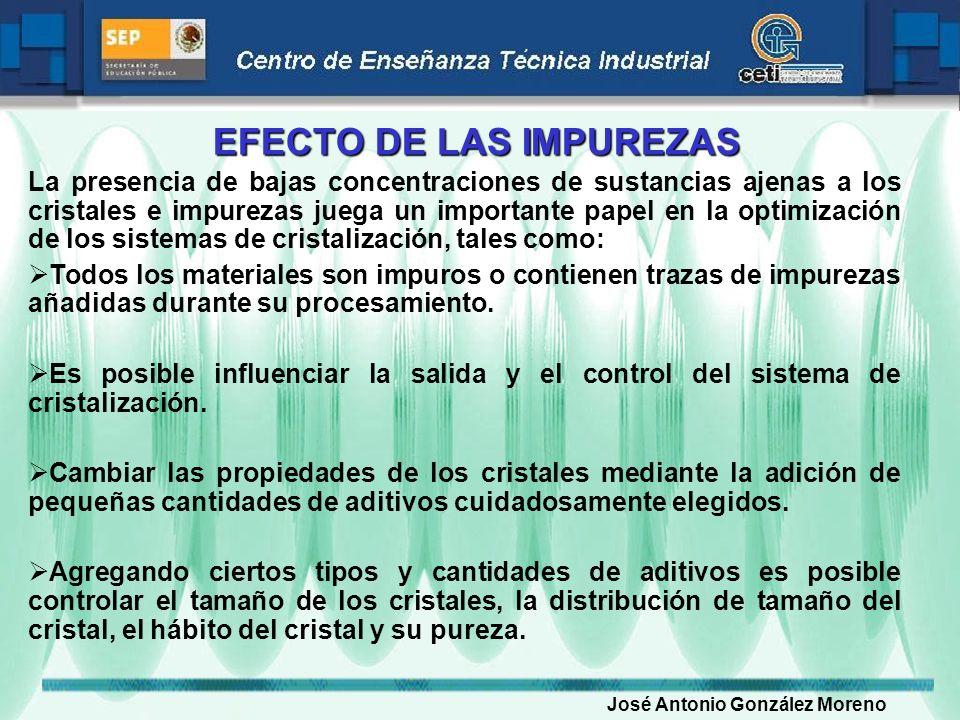 EFECTO DE LAS IMPUREZAS
