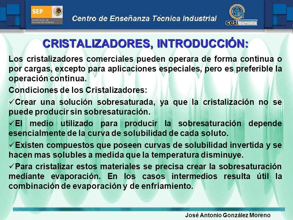 CRISTALIZADORES, INTRODUCCIÓN: