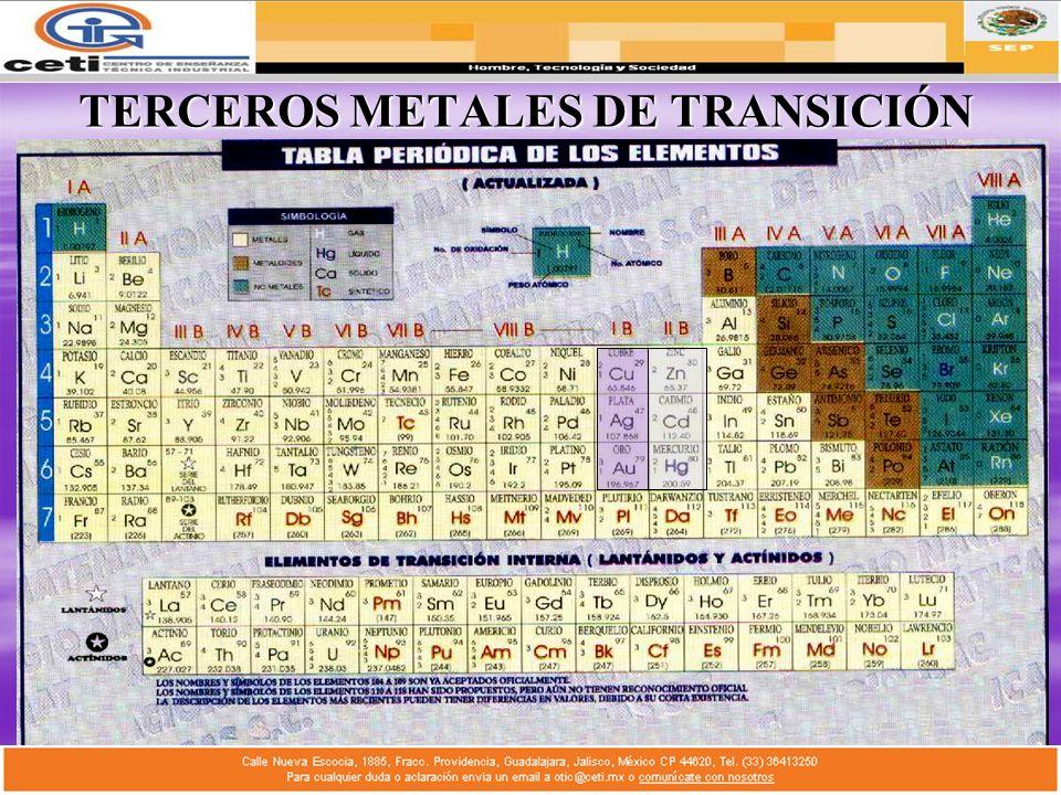 TERCEROS METALES DE TRANSICIÓN