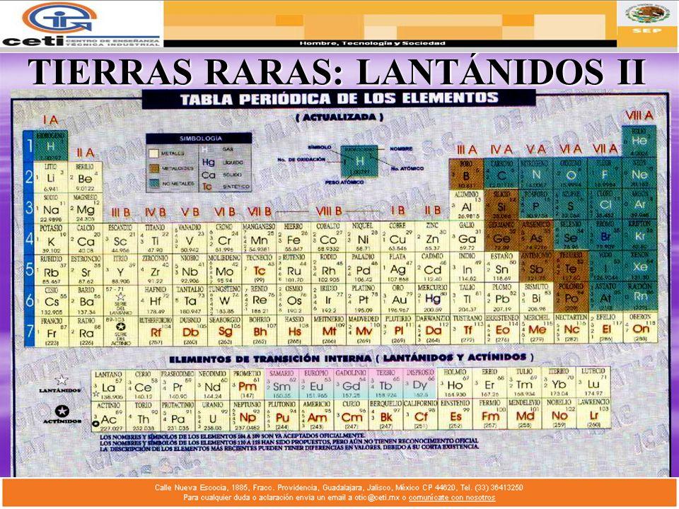TIERRAS RARAS: LANTÁNIDOS II