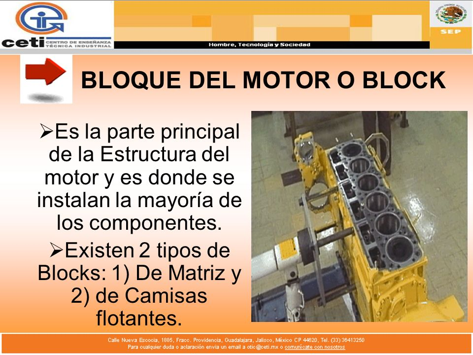 BLOQUE DEL MOTOR O BLOCK