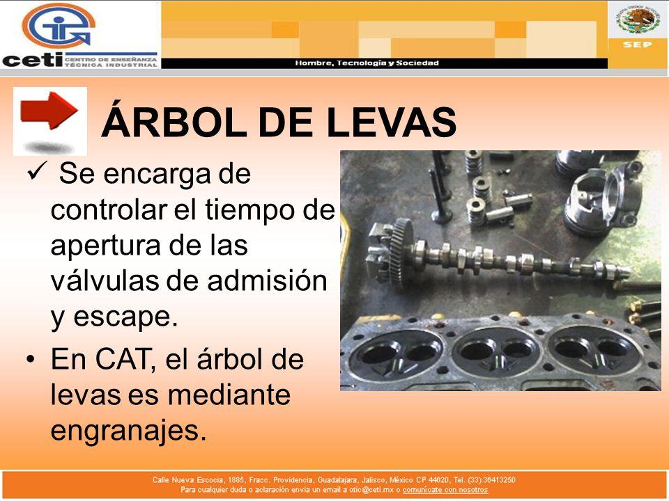 ÁRBOL DE LEVASSe encarga de controlar el tiempo de apertura de las válvulas de admisión y escape.