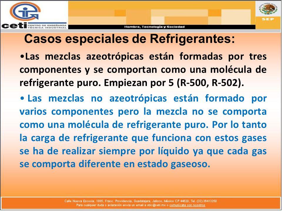 Casos especiales de Refrigerantes: