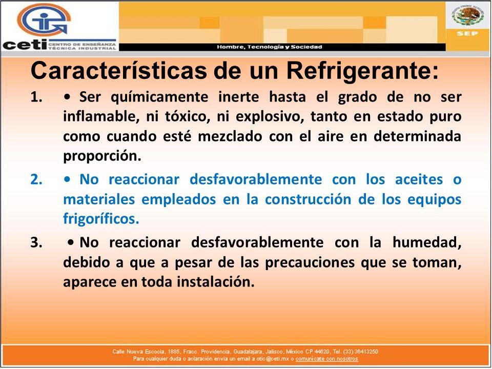 Características de un Refrigerante: