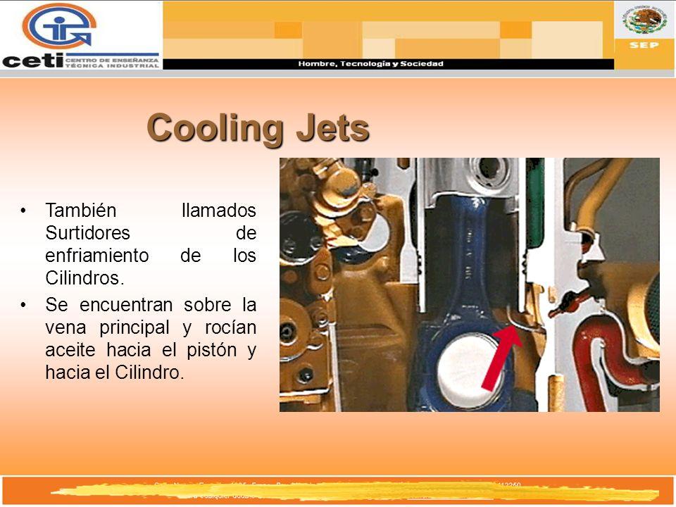 Cooling Jets También llamados Surtidores de enfriamiento de los Cilindros.