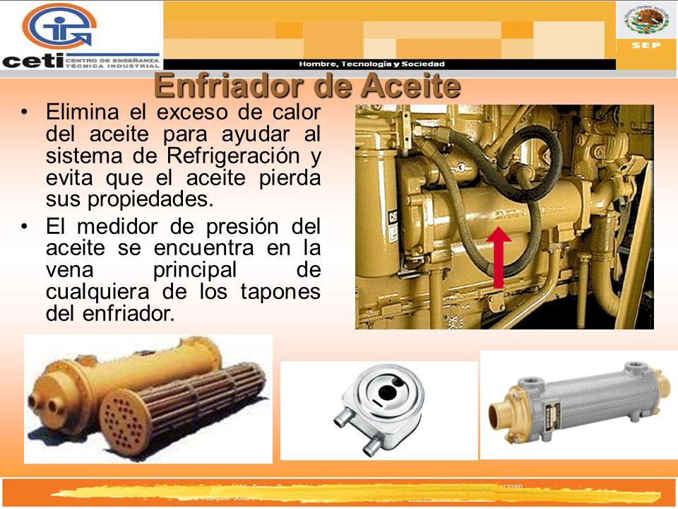 Enfriador de AceiteElimina el exceso de calor del aceite para ayudar al sistema de Refrigeración y evita que el aceite pierda sus propiedades.