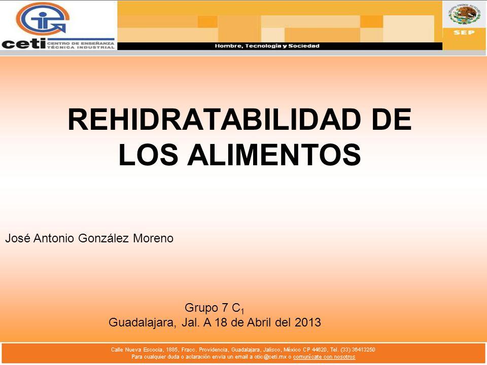 REHIDRATABILIDAD DE LOS ALIMENTOS