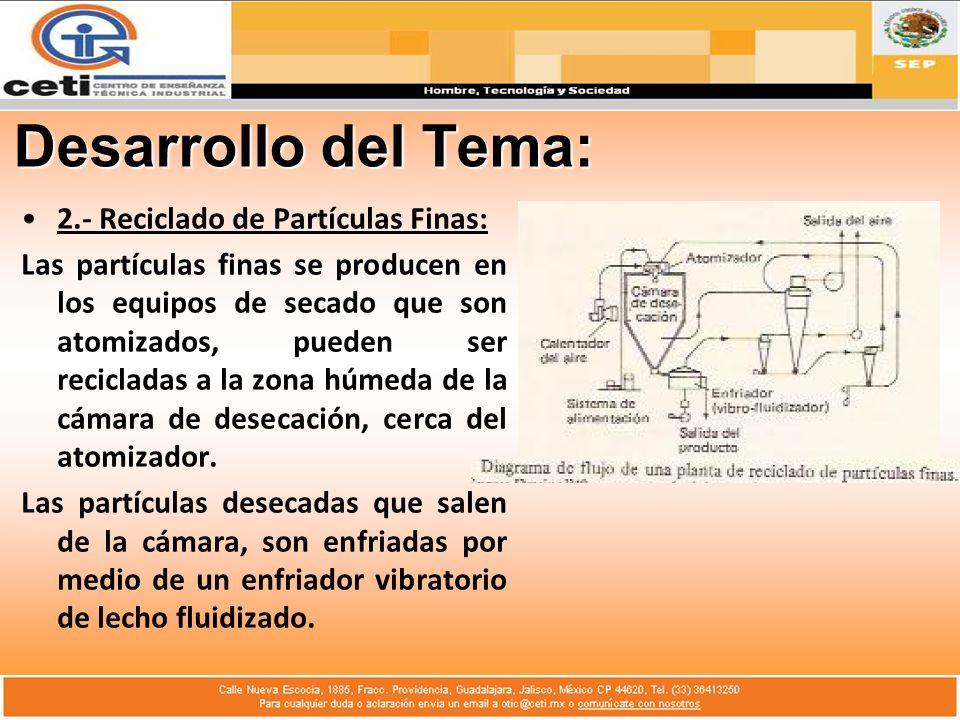 Desarrollo del Tema: 2.- Reciclado de Partículas Finas: