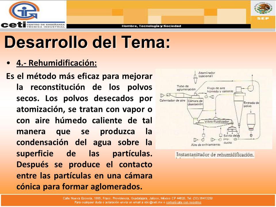 Desarrollo del Tema: 4.- Rehumidificación: