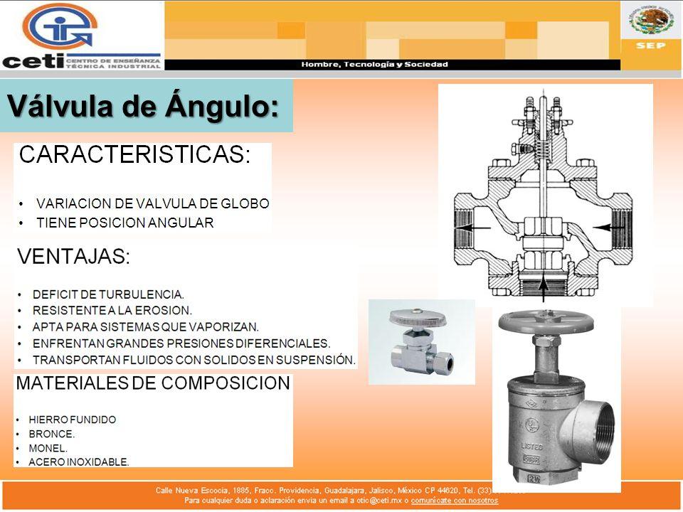 Válvula de Ángulo: