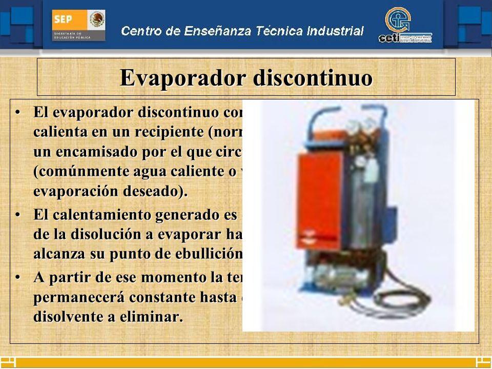 Evaporador discontinuo
