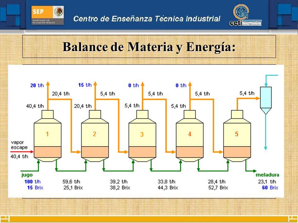 Balance de Materia y Energía: