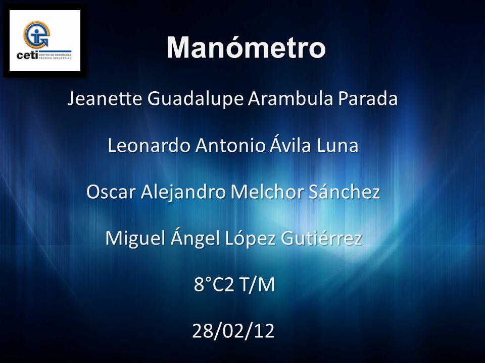 Manómetro Jeanette Guadalupe Arambula Parada