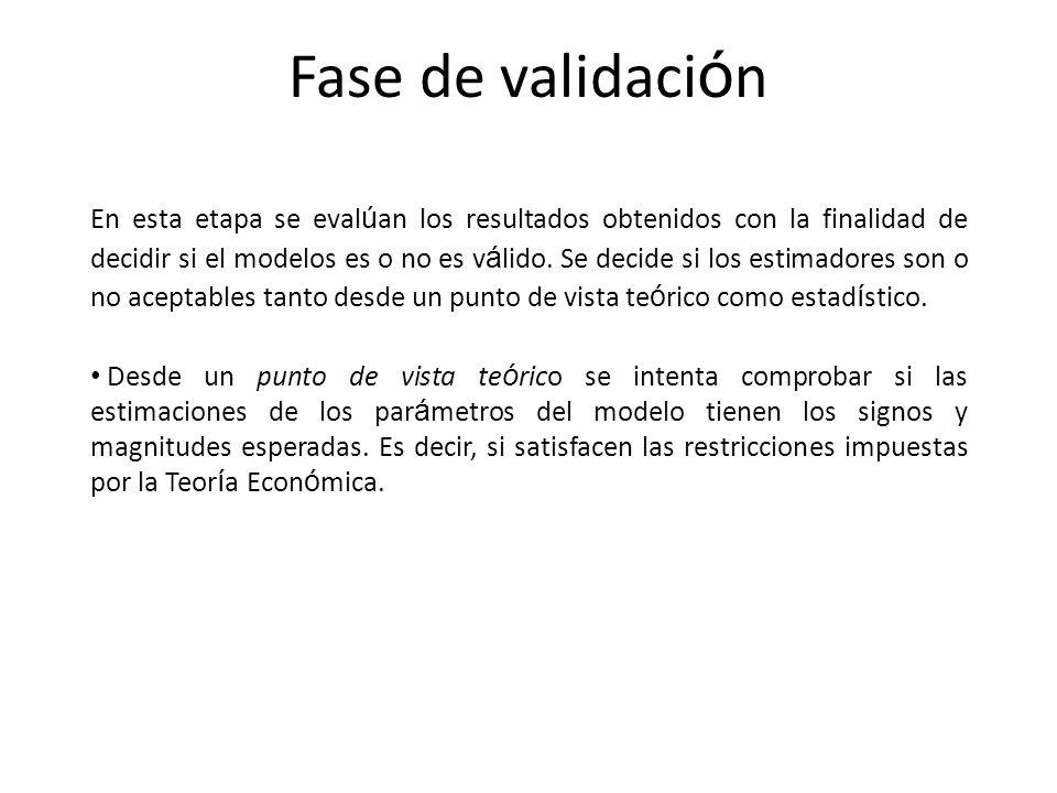 Fase de validación