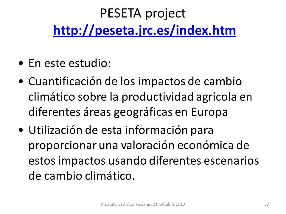 PESETA project http://peseta.jrc.es/index.htm