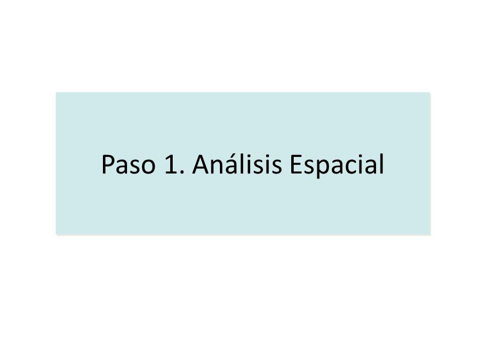 Paso 1. Análisis Espacial