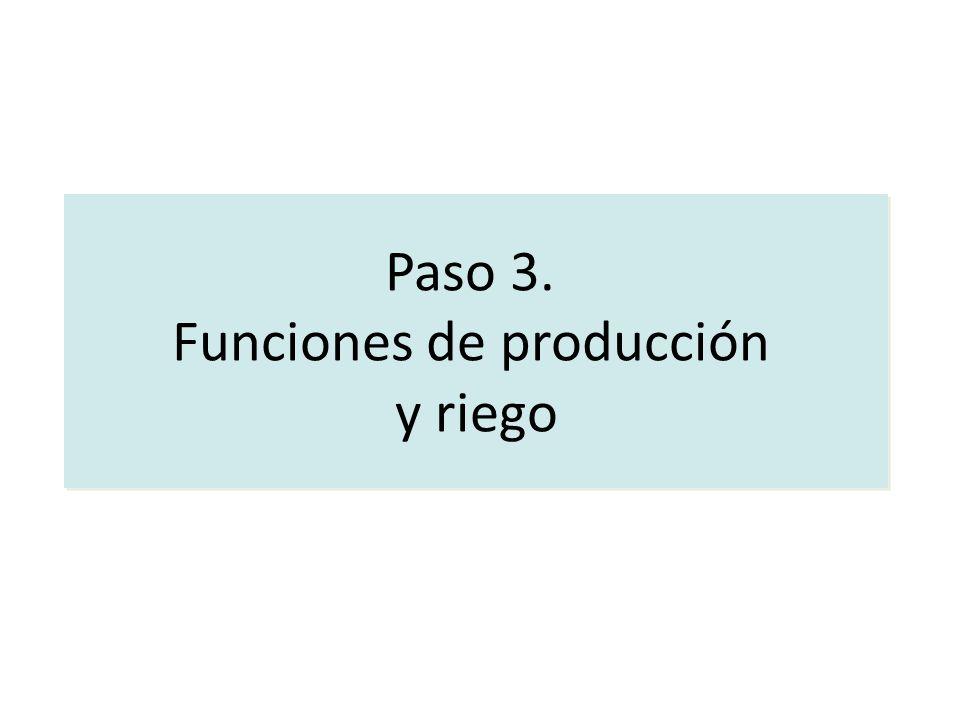 Funciones de producción