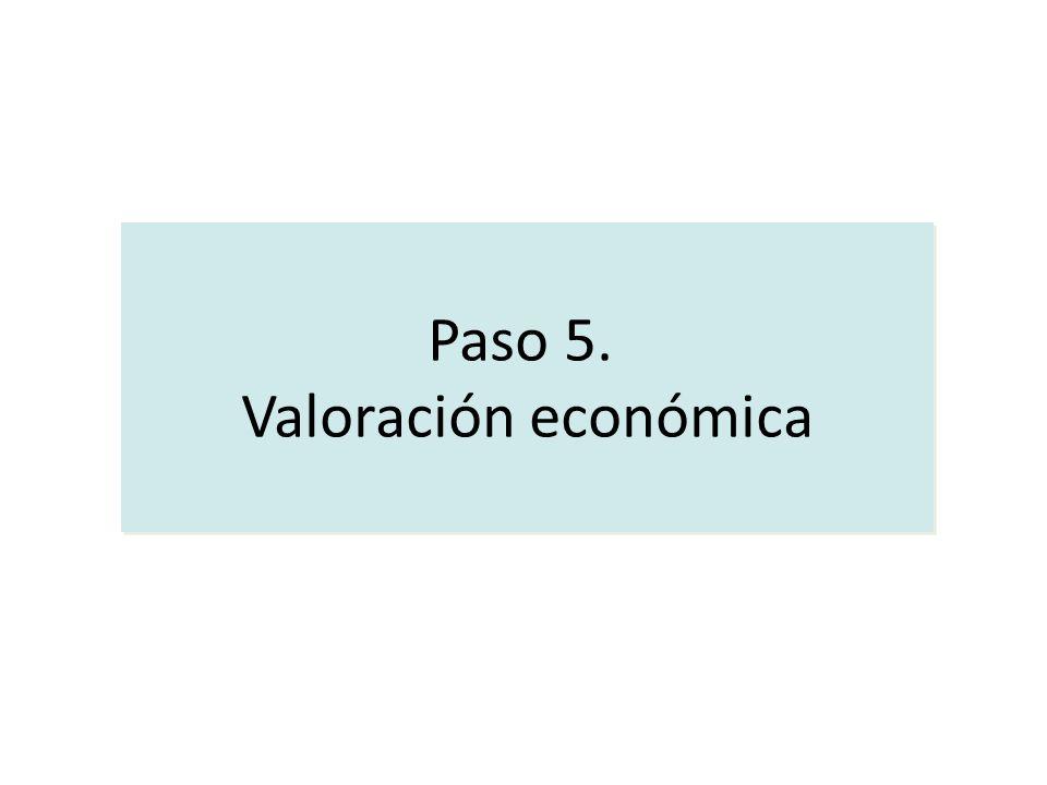 Paso 5. Valoración económica