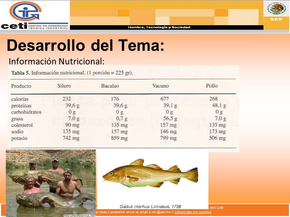 Información Nutricional:
