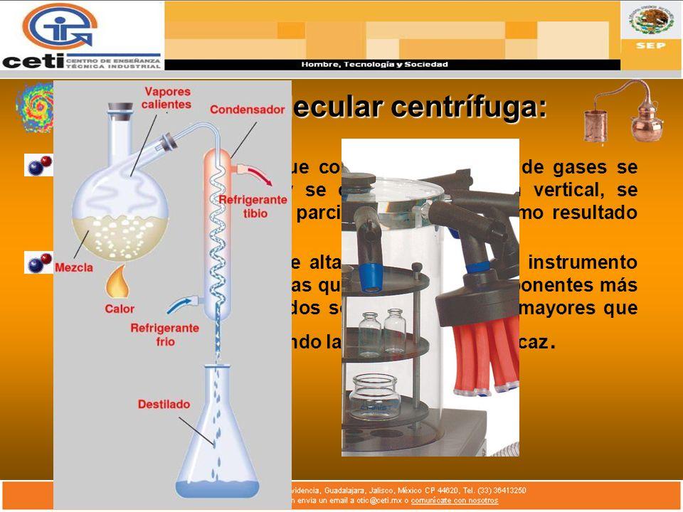 Destilación molecular centrífuga: