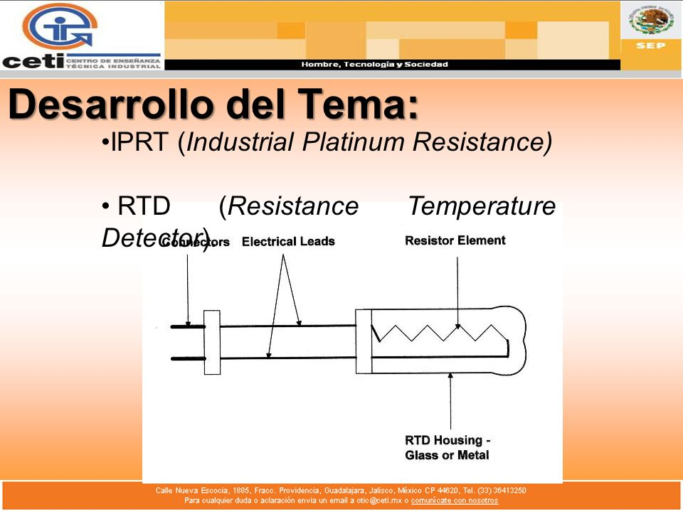 Desarrollo del Tema: IPRT (Industrial Platinum Resistance)