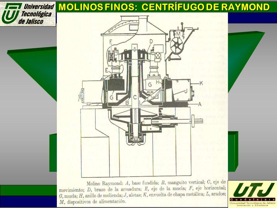 MOLINOS FINOS: CENTRÍFUGO DE RAYMOND
