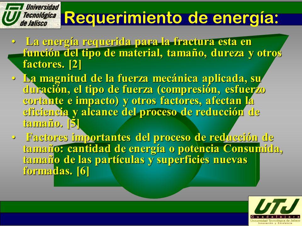 Requerimiento de energía: