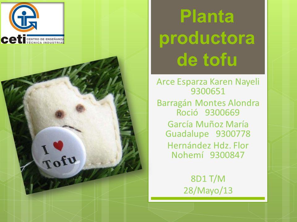 Planta productora de tofu