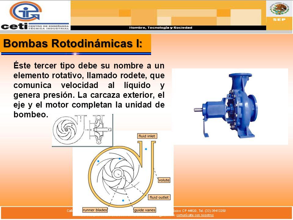 Bombas Rotodinámicas I: