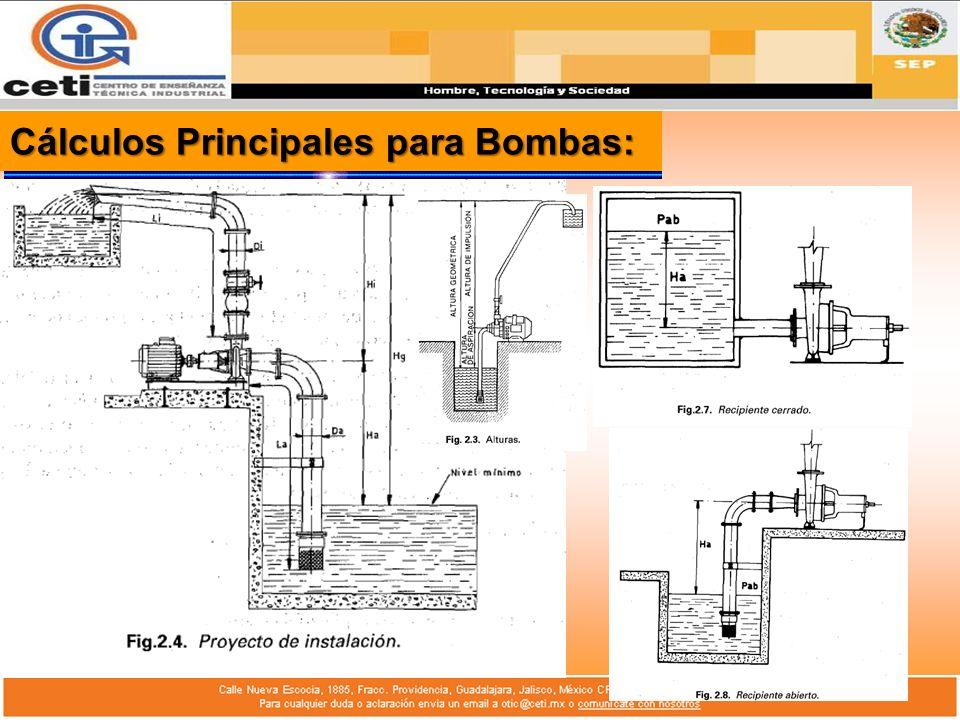 Cálculos Principales para Bombas:
