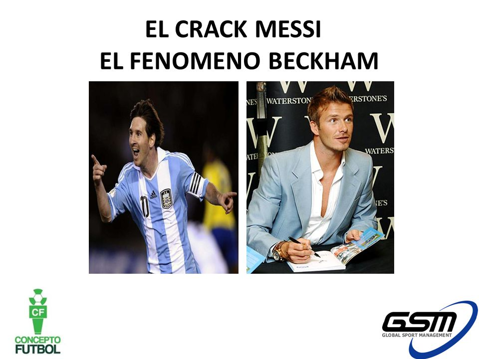 EL CRACK MESSI EL FENOMENO BECKHAM