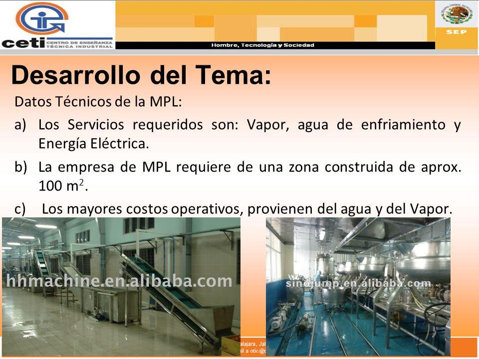 Desarrollo del Tema: Datos Técnicos de la MPL: