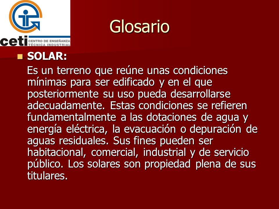 Glosario SOLAR: