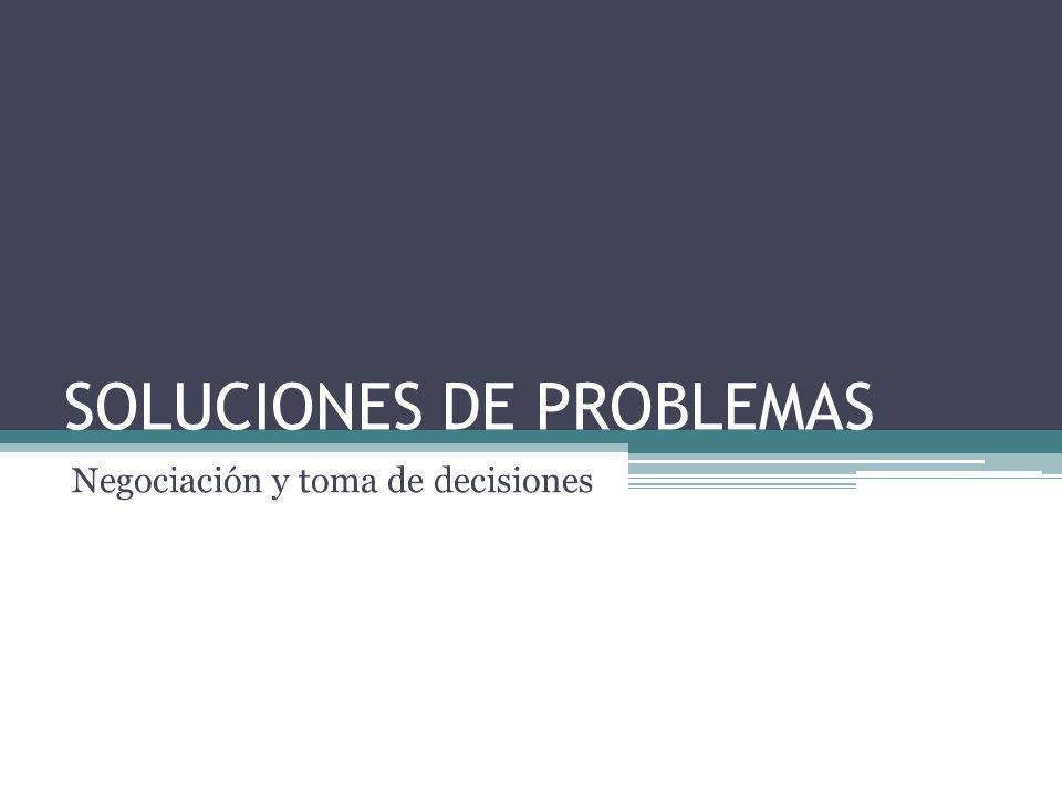 SOLUCIONES DE PROBLEMAS