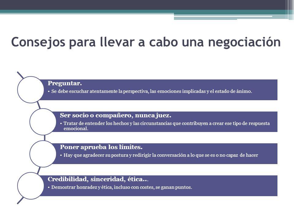 Consejos para llevar a cabo una negociación