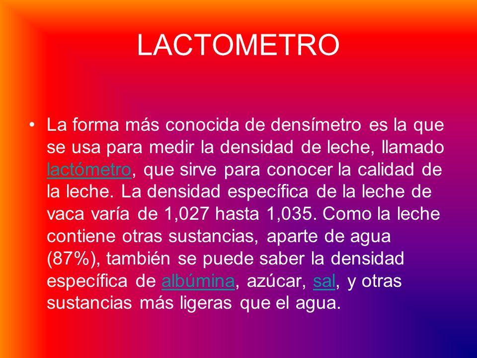 LACTOMETRO