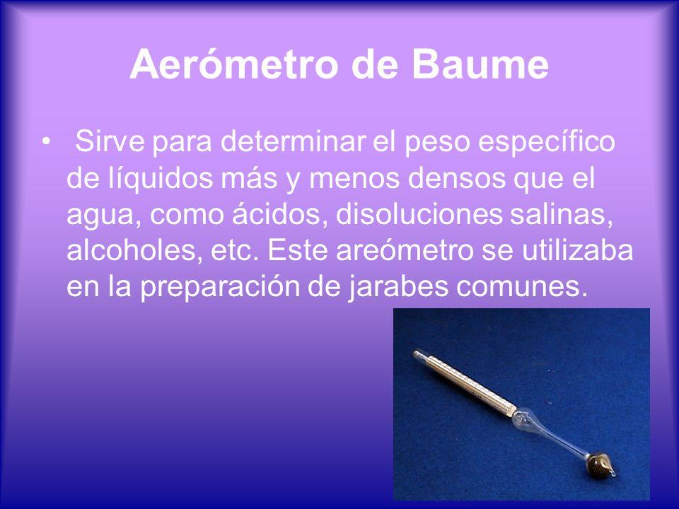 Aerómetro de Baume