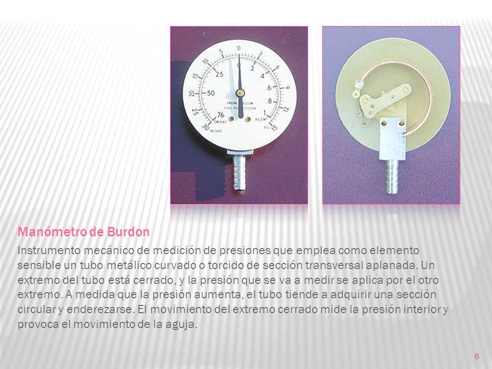 Manómetro de Burdon
